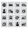 logistic and shipping icon vector image