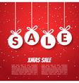 Christmas balls sale poster template Xmas sale vector image
