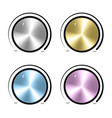 Set of Realistic control the music knob volume vector image