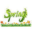 a spring text letter banner vector image vector image