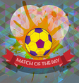 Abstract football and soccer infographic vector image