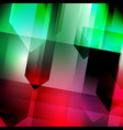 abstract geometric gems and crystals glowing vector image vector image