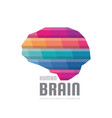 abstract human brain - logo template vector image