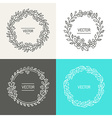 abstract logo design templates vector image vector image