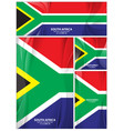 abstract south africa flag background vector image vector image