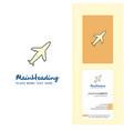 aeroplane creative logo and business card vector image vector image