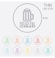 Bar or Pub sign icon Glass of beer symbol vector image