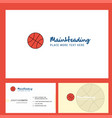 basket ball logo design with tagline front and vector image vector image