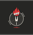 bbq and grill logo barbecue party logo on black vector image vector image