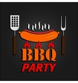 BBQ design card EPS 10 vector image vector image