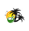 beach vacation logo design vector image vector image