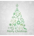 Beautiful Xmas tree for Merry Christmas vector image