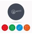Billiard ball icon Cue sports sign vector image vector image