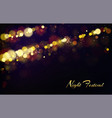 bokeh effect background for night festival vector image