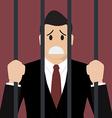 Businessman in prison vector image vector image