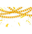 celebration background template with gold vector image
