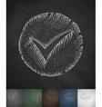 check circle icon Hand drawn vector image vector image