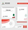 cherries logo calendar template cd cover diary vector image vector image