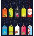 Christmas grunge tags vector image vector image