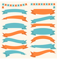 Collection of decorative design elements ribbons vector image