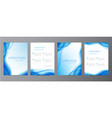collection set blue abstract covers vector image vector image