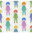 colorful clowns seamless pattern background kids vector image