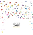 Colorful Confetti isolated on Transparent square vector image vector image