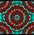 colorful ethnic style seamless mandalas pattern vector image vector image