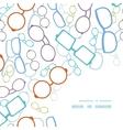 colorful glasses frame corner pattern vector image