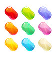 colorful glossy jelly candies set vector image vector image