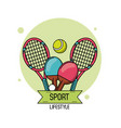 colorful poster of sport lifestyle with elements vector image