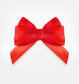 decorative red bow 3d realistic vector image vector image