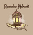 fanus lantern muslim holiday holy month of vector image