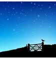 Farm Gate vector image vector image