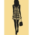 Fashion woman in dress from quote vector image vector image