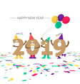 funny numbers celebrating the new year on a white vector image