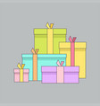 gift boxes presents surprises vector image vector image