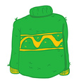 green wool sweater vector image vector image