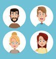 group mom and dad family vector image