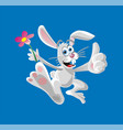 happy easter bunny ears and face flat vector image vector image