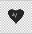 heart rate icon isolated on transparent background vector image vector image