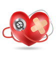 heart stethoscope vector image vector image