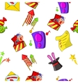 Holiday birthday pattern cartoon style vector image