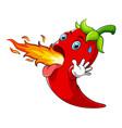 hot chili cartoon character vector image