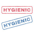 hygienic textile stamps vector image vector image