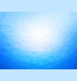 light blue low poly background vector image vector image