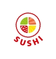 logo sushi vector image vector image