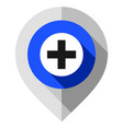 map pin plus symbol gps pointer folded from gray vector image