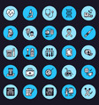 medical equipment flat line icons health vector image vector image