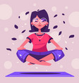 meditation health benefits for body mind and vector image